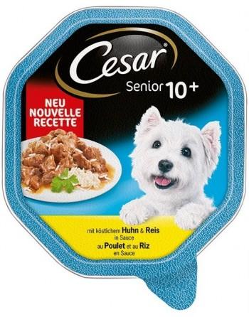 César Sénior 10+ Poulet-riz...