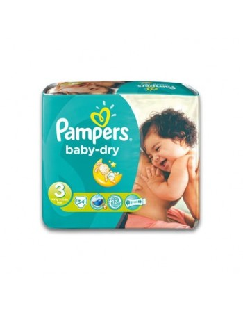 Pampers Baby Dry N3 34pc