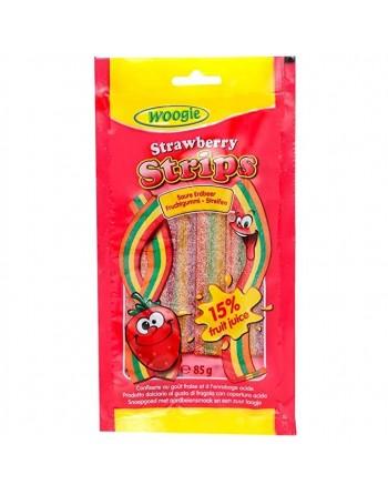 Woogie Strips Strawberry 85g